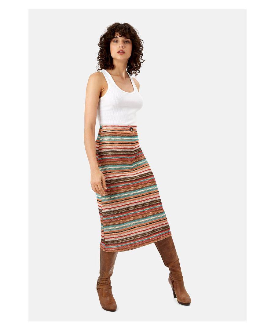 Image for Ali A-Line Stripe Skirt in Multicoloured