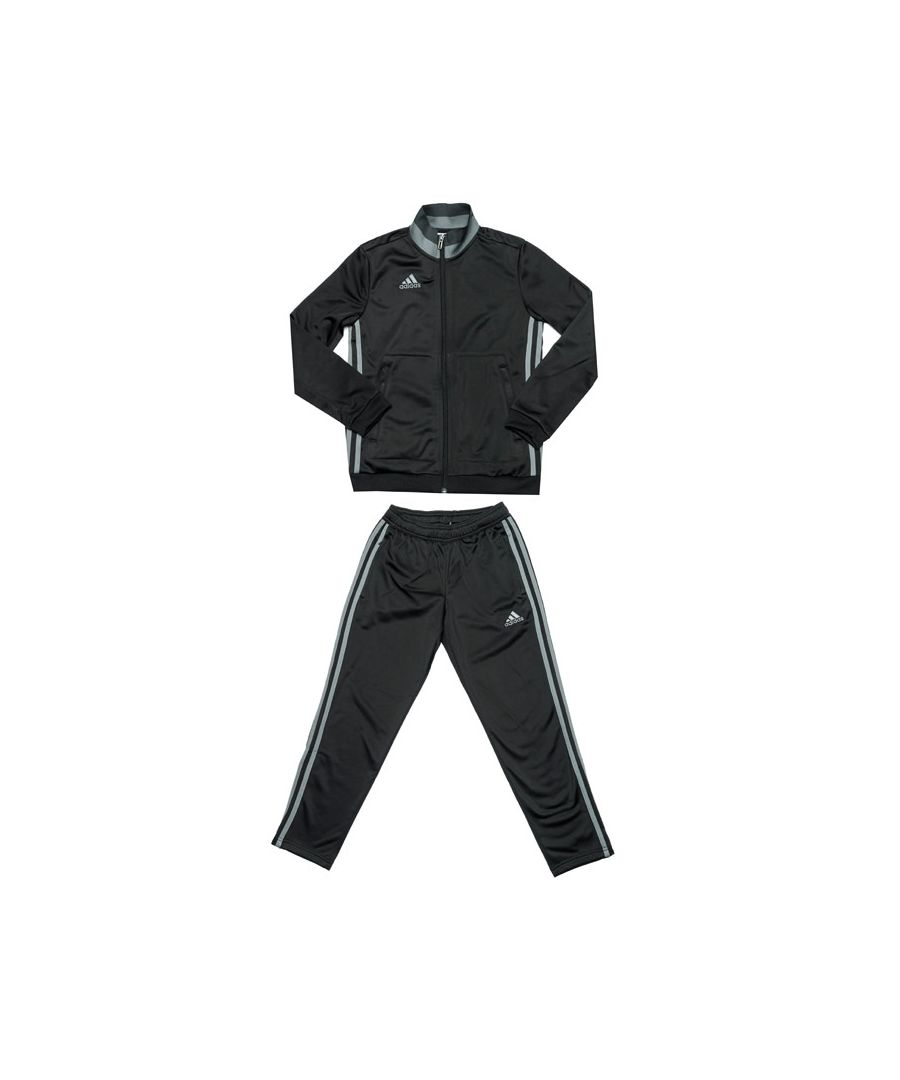 Image for Boy's adidas Junior Con 16 Tracksuit in Black