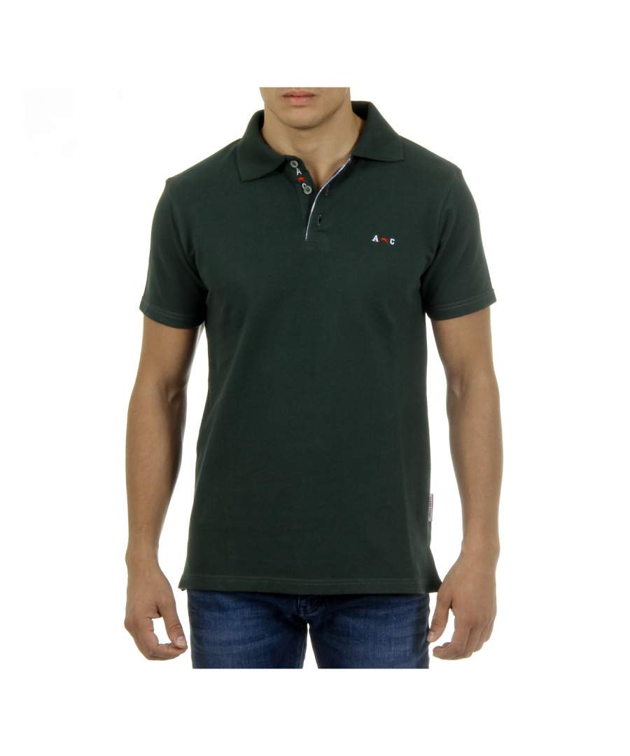 Image for Andrew Charles Mens Polo Short Sleeves Green SEMELO