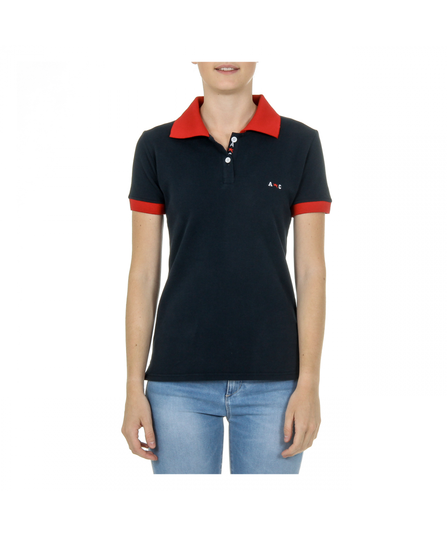 Image for Andrew Charles Womens Polo Short Sleeves Dark Blue NIA