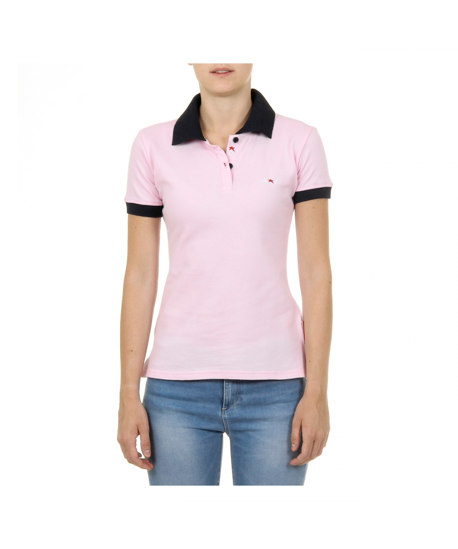 Image for Andrew Charles Womens Polo Short Sleeves Pink NIA