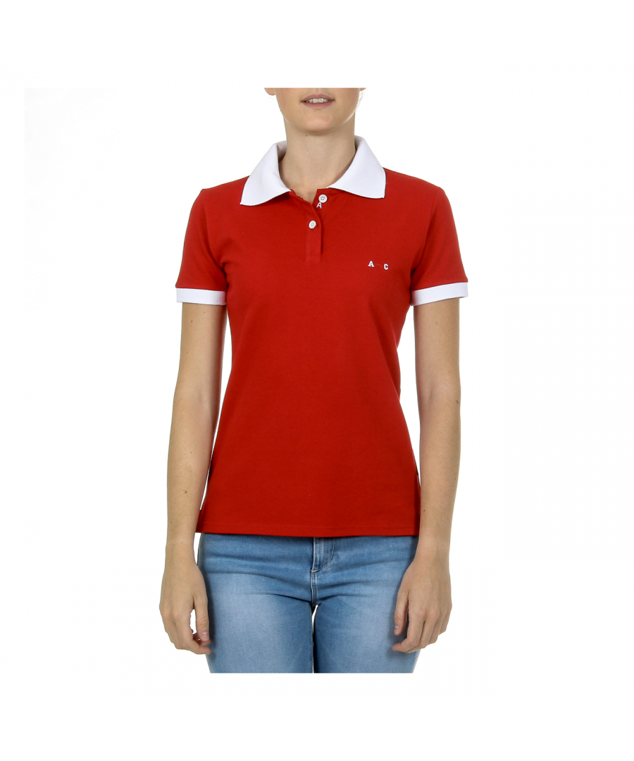 Image for Andrew Charles Womens Polo Short Sleeves Red NIA