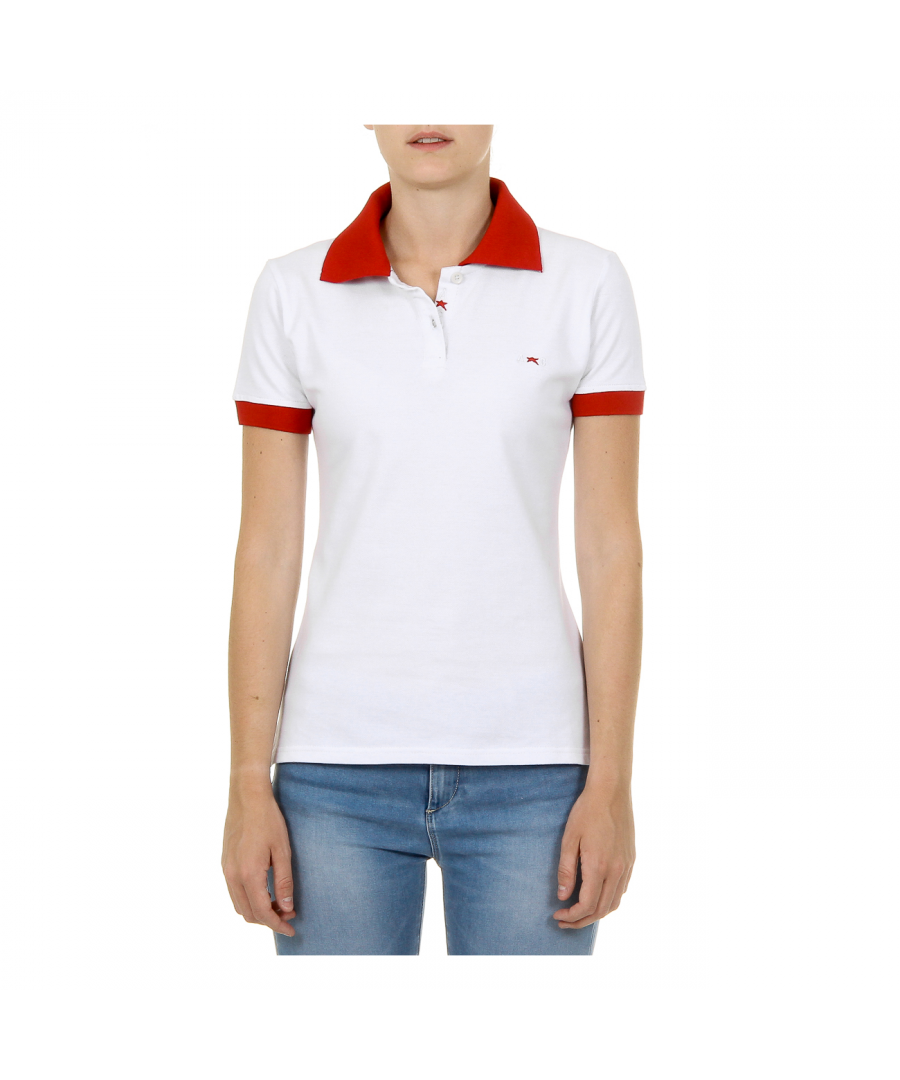Image for Andrew Charles Womens Polo Short Sleeves White NIA