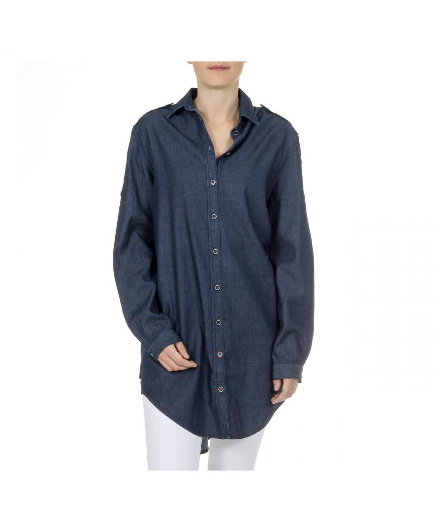 Image for Andrew Charles Womens Shirt Long Sleeves Denim CAMILIA