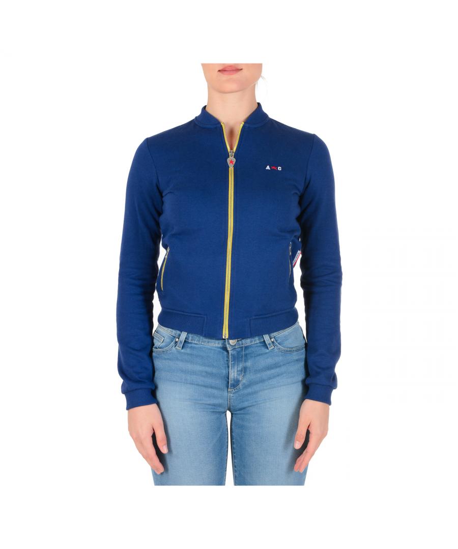 Image for Andrew Charles Womens Sweater Long Sleeves Dark Blue SUMATRA