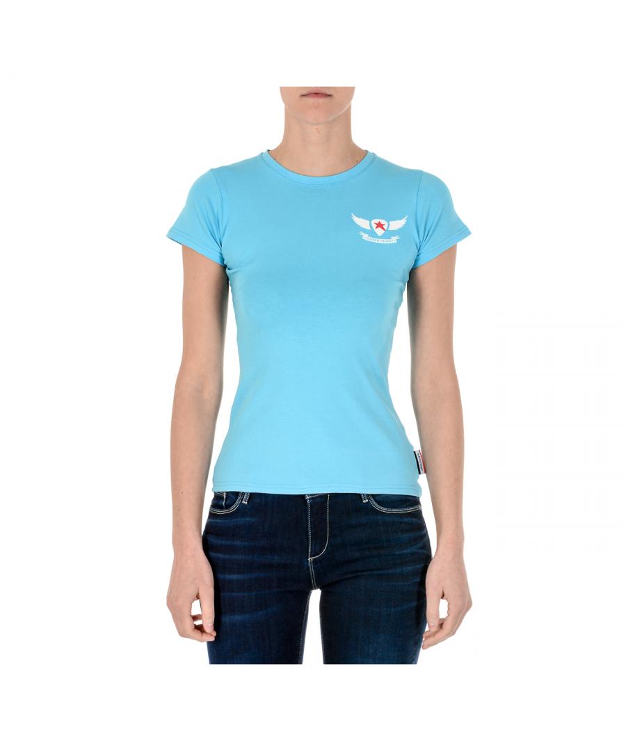 Image for Andrew Charles Womens T-Shirt Short Sleeves Round Neck Light Blue TARANA