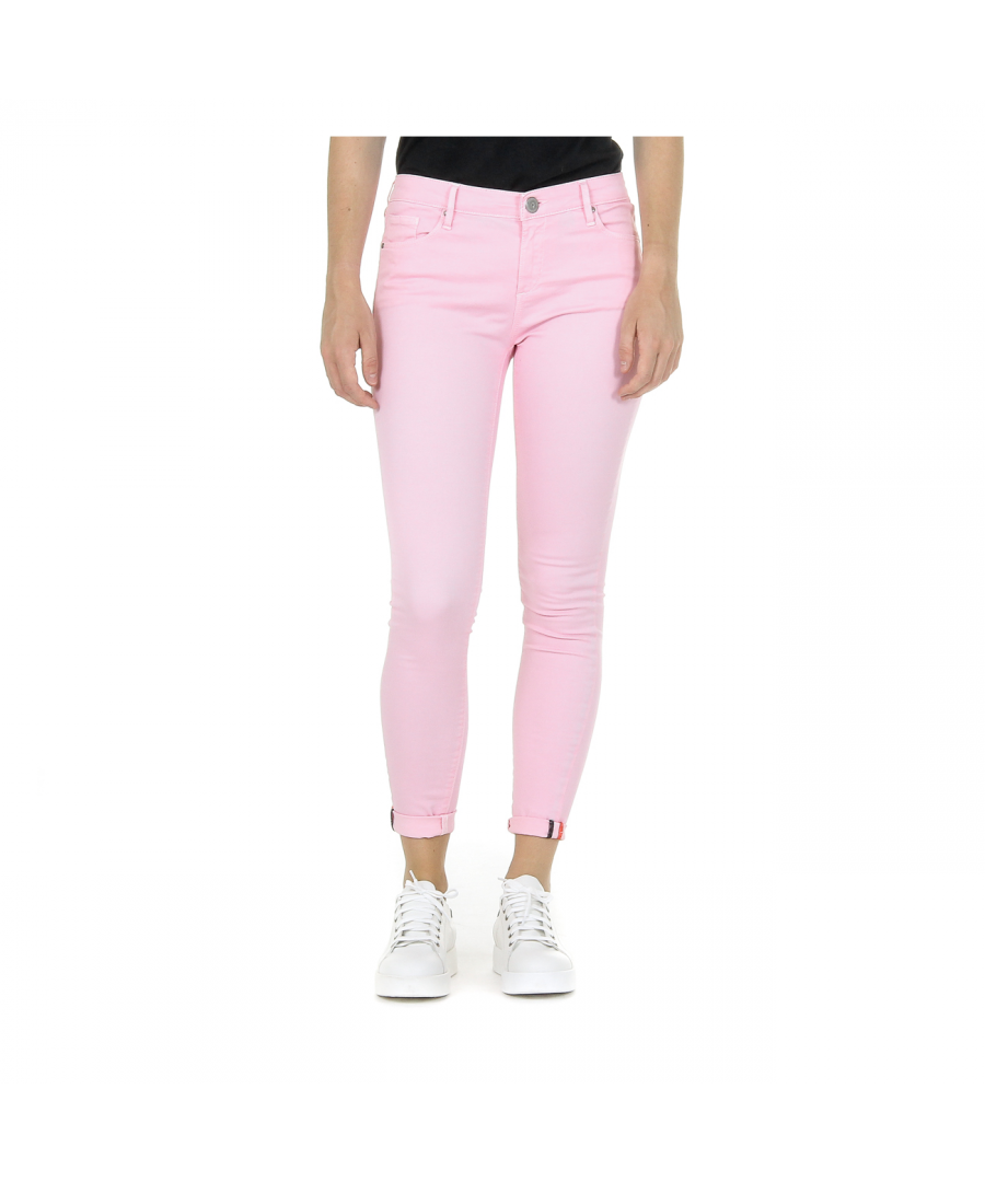Image for Andrew Charles Womens Trousers Pink CLAIRE