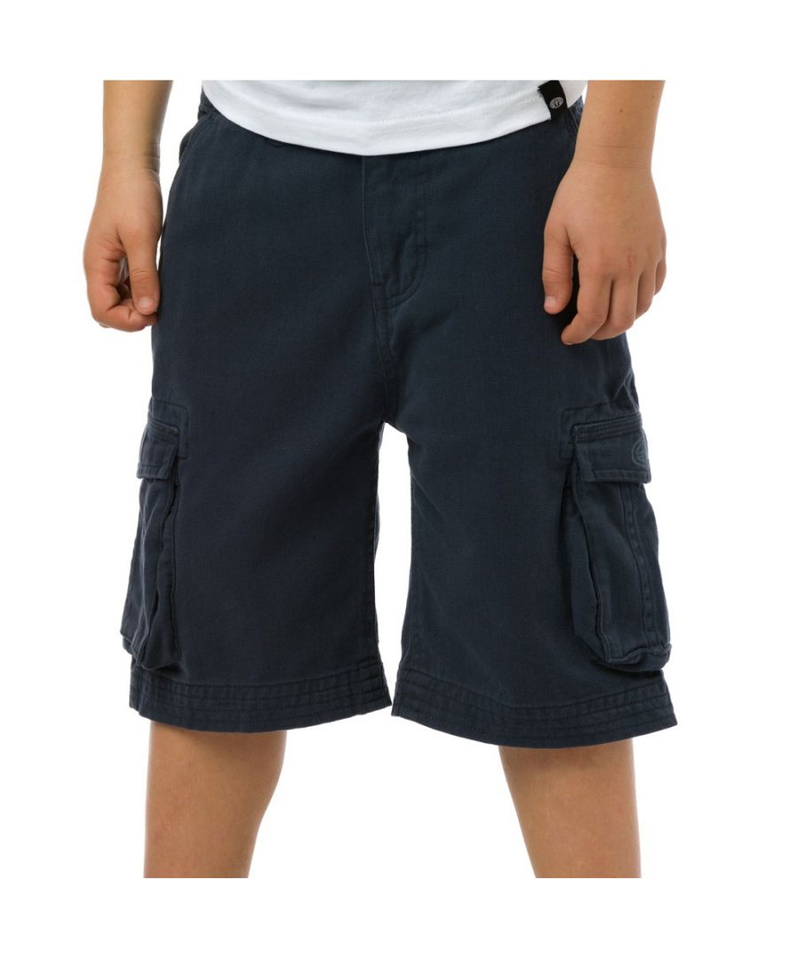 Image for Animal Boys Antony Printed Brand Cargo Shorts CL5SG646 Navy
