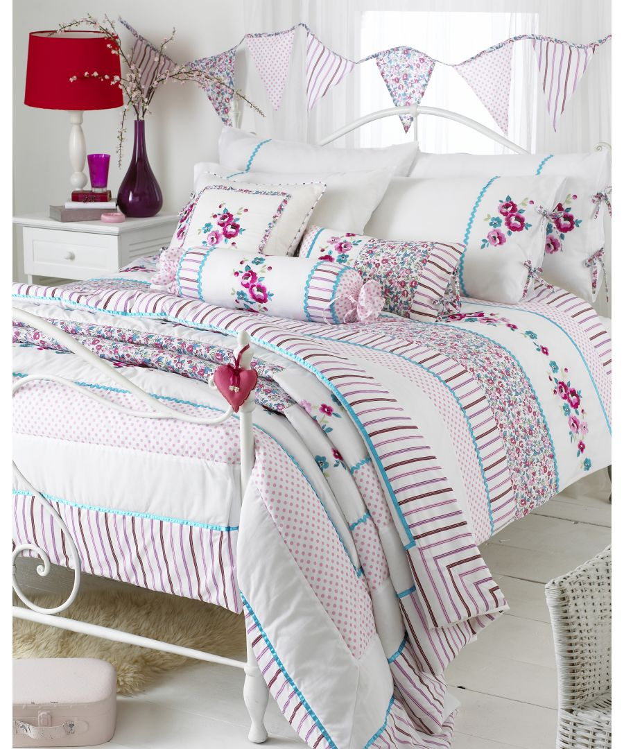 Image for Appleby  Bedspread Kfr/Pink