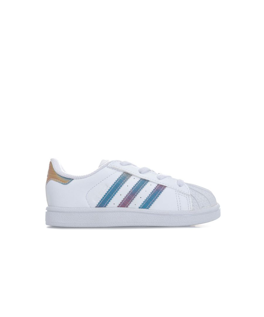 Image for Girl's adidas Originals Infant Iridescent Superstar Trainers in White