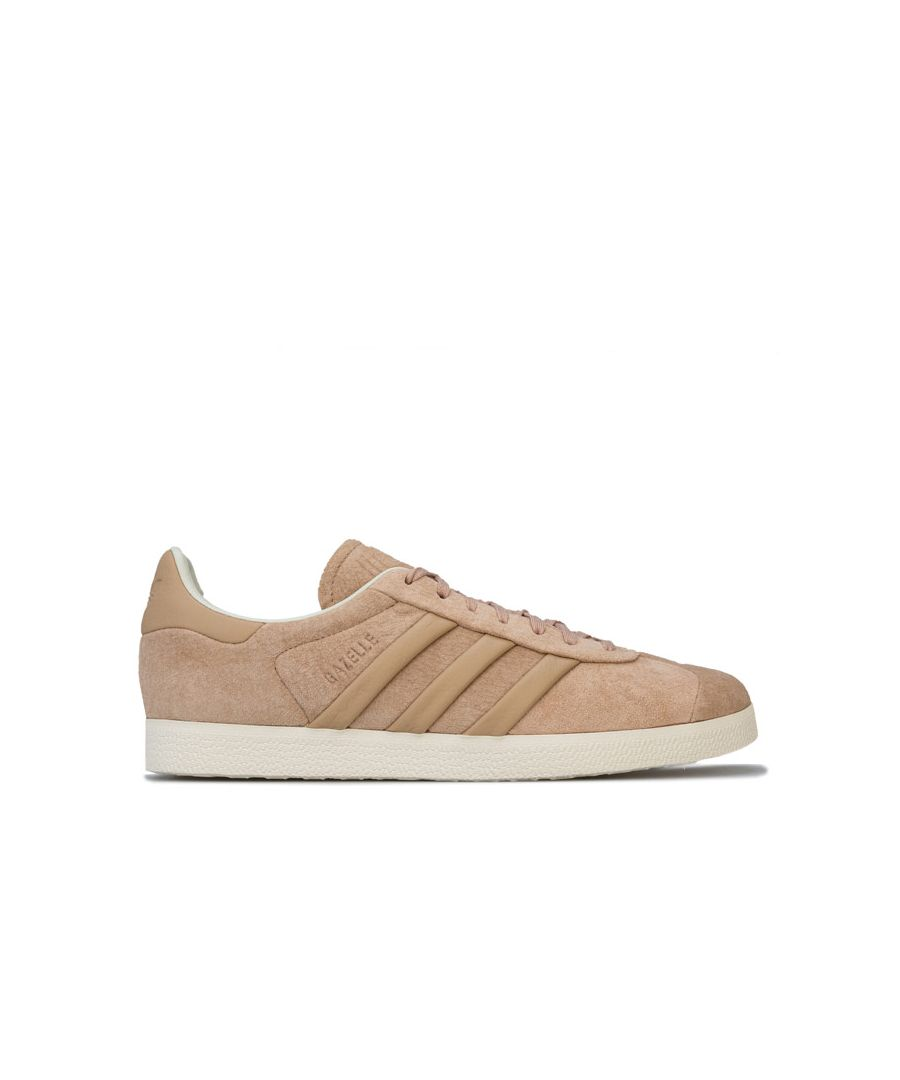 Image for Men's adidas Originals Gazelle Stitch-and-Turn Trainers in Beige