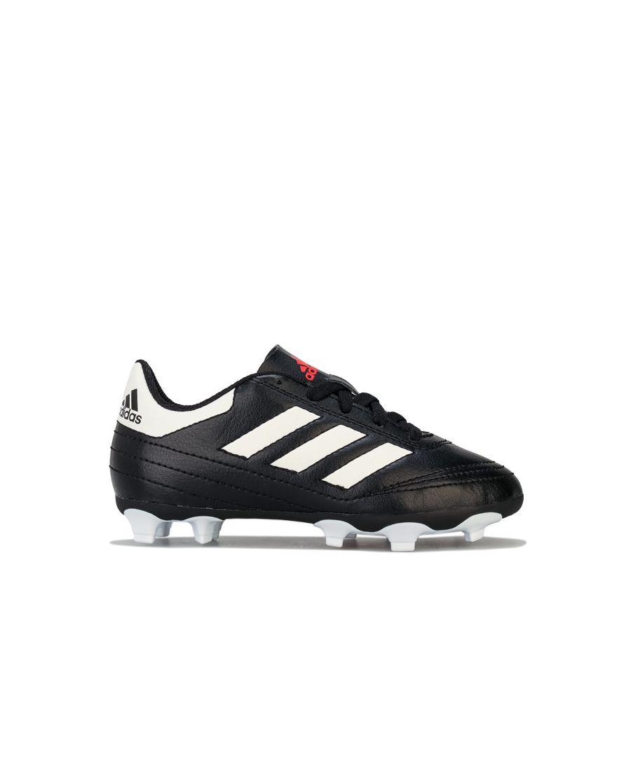 Image for Boy's adidas Children Goletto VI FG Football Boots in Black-White