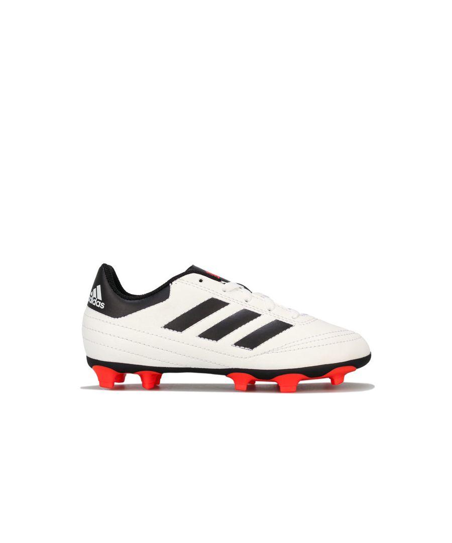 Image for Boy's adidas Children Goletto VI FG Football Boots in White Black