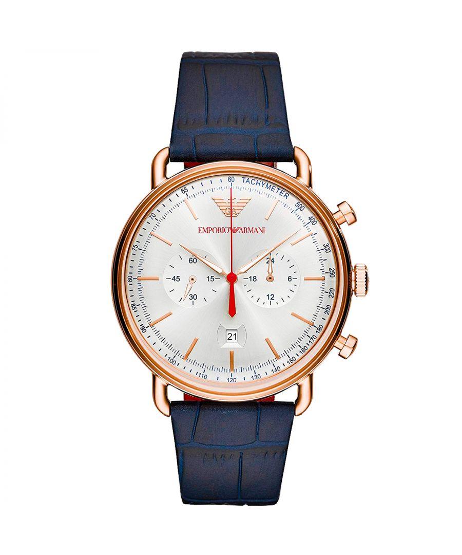 Image for Emporio Armani Mens' Aviator Watch AR11123