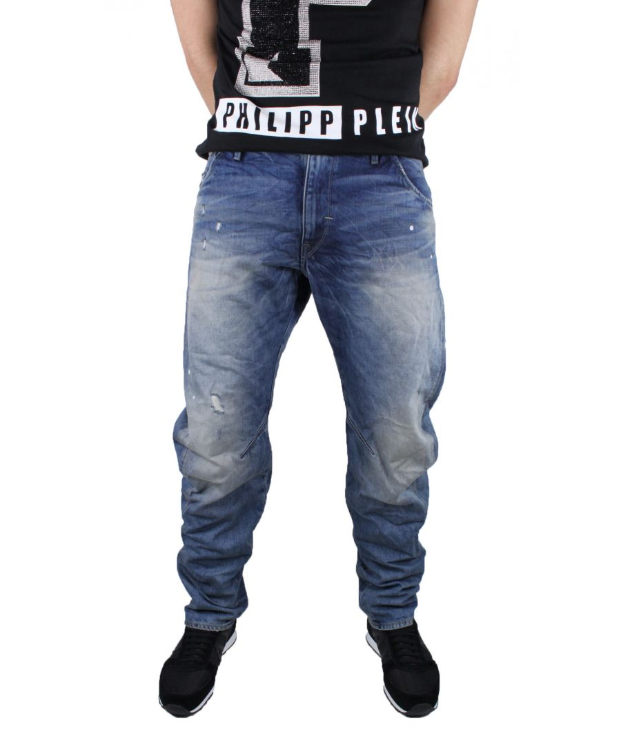 Image for G-Star Arc 3D Loose Tapered Medium Aged Destroy Visor Denim Jeans