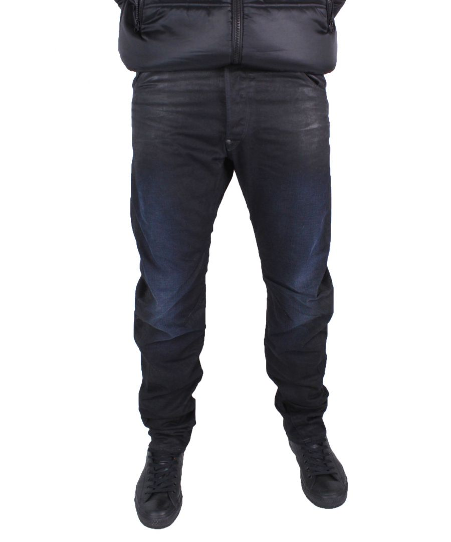 Image for G-Star Arc Zip 3D Loose Tapered Dark Aged Effer Denim Jeans