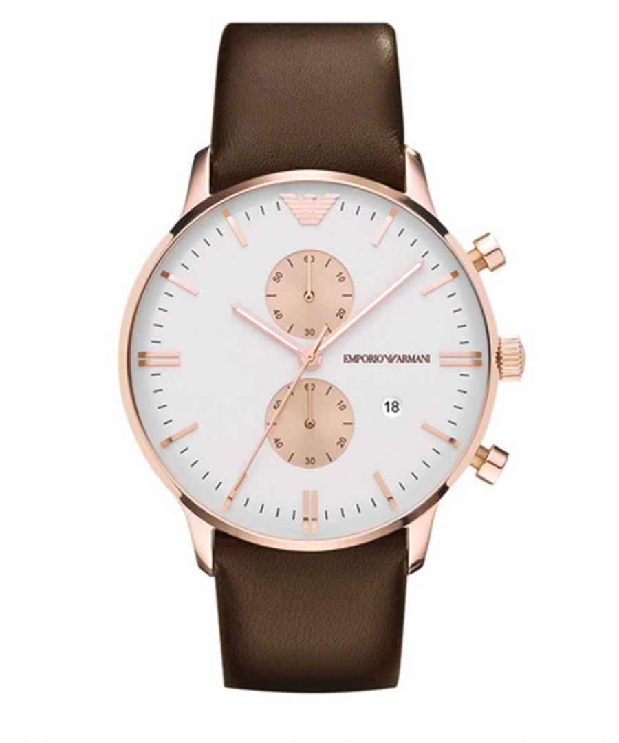 Image for Emporio Armani Mens' Chronograph Watch AR0398