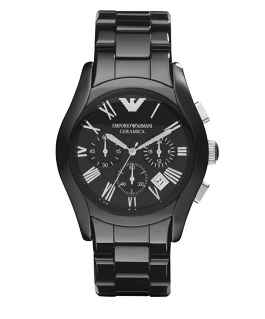 Image for Emporio Armani Mens' Ceramic Chronograph Watch AR1400