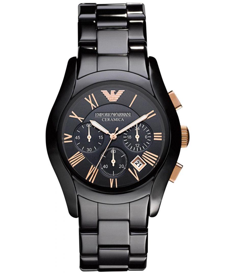 Image for Emporio Armani Mens' Ceramic Chronograph Watch AR1410