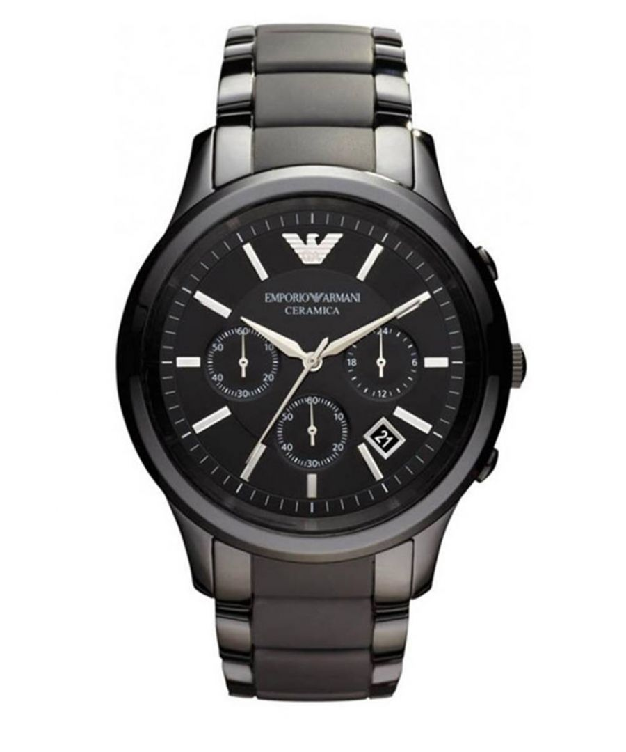 Image for Emporio Armani Mens' Ceramic Chronograph Watch AR1452