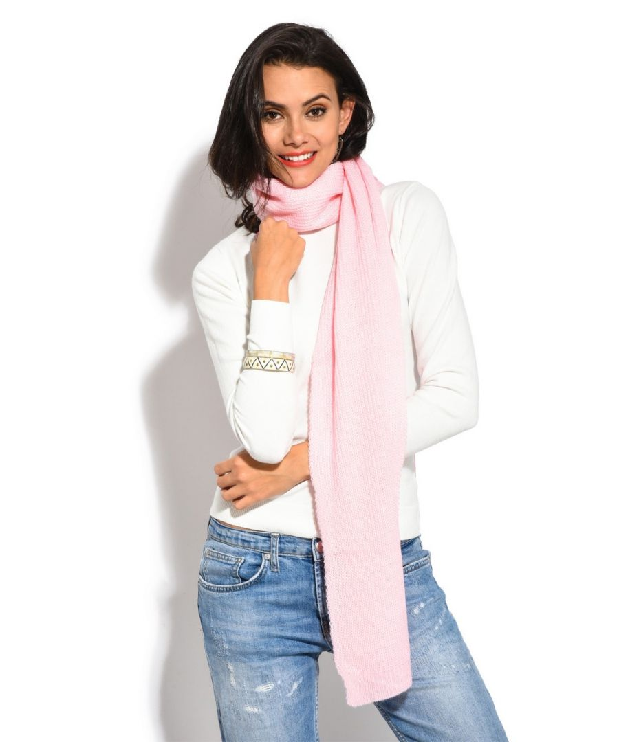 Image for Assuili 4 Yarn 200x30cm Scarf in Pink