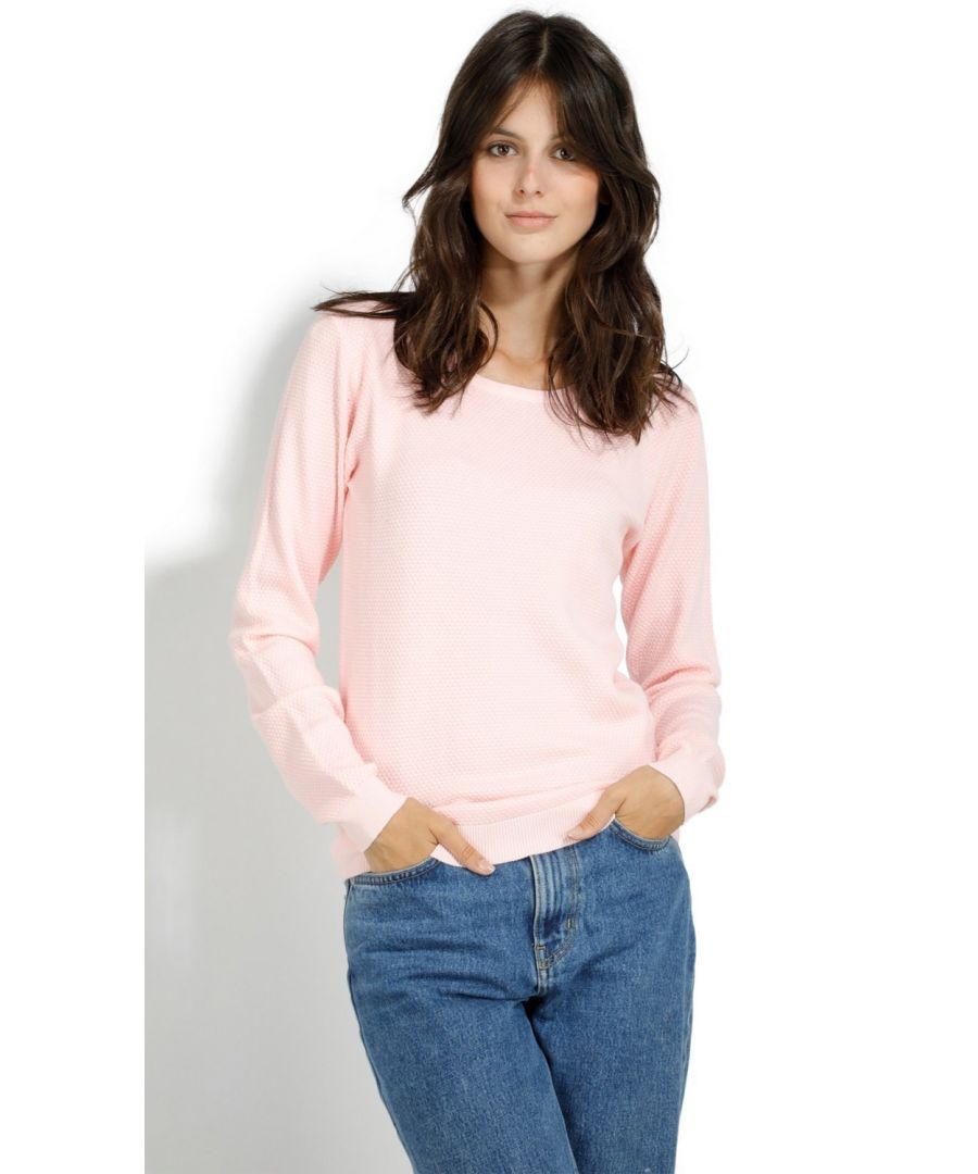 Image for Assuili Round Neck Zip Back Sweater in Pink