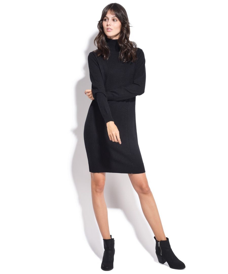 Image for Assuili Turtleneck Dress in Black