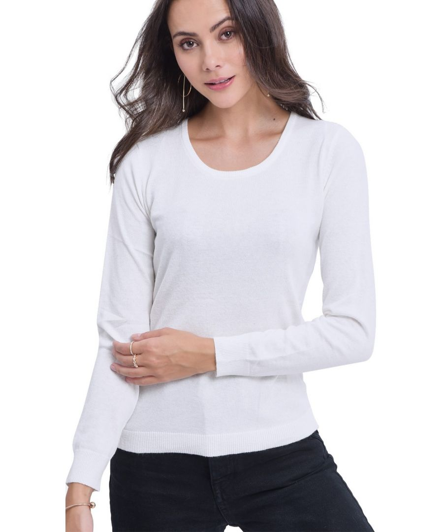Image for Assuili Round Neck Sweater in Natural