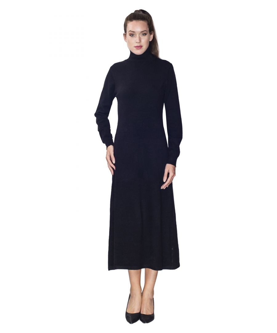 Image for Assuili Turtleneck Midaxi Dress in Black