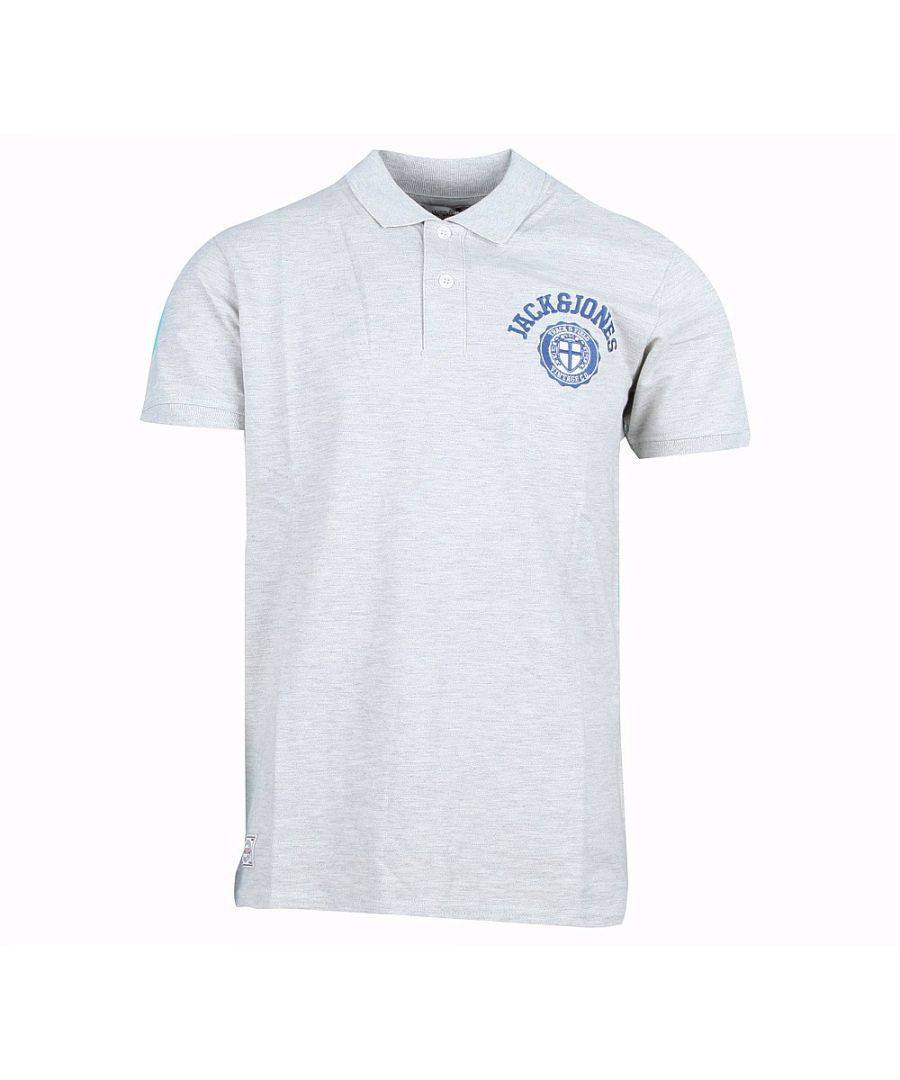 Image for Jack and Jones Athletic Polo White Polo Shirt