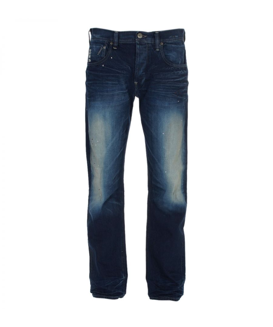 Image for G-Star Attacc Straight Medium Aged Pillar Denim Jeans