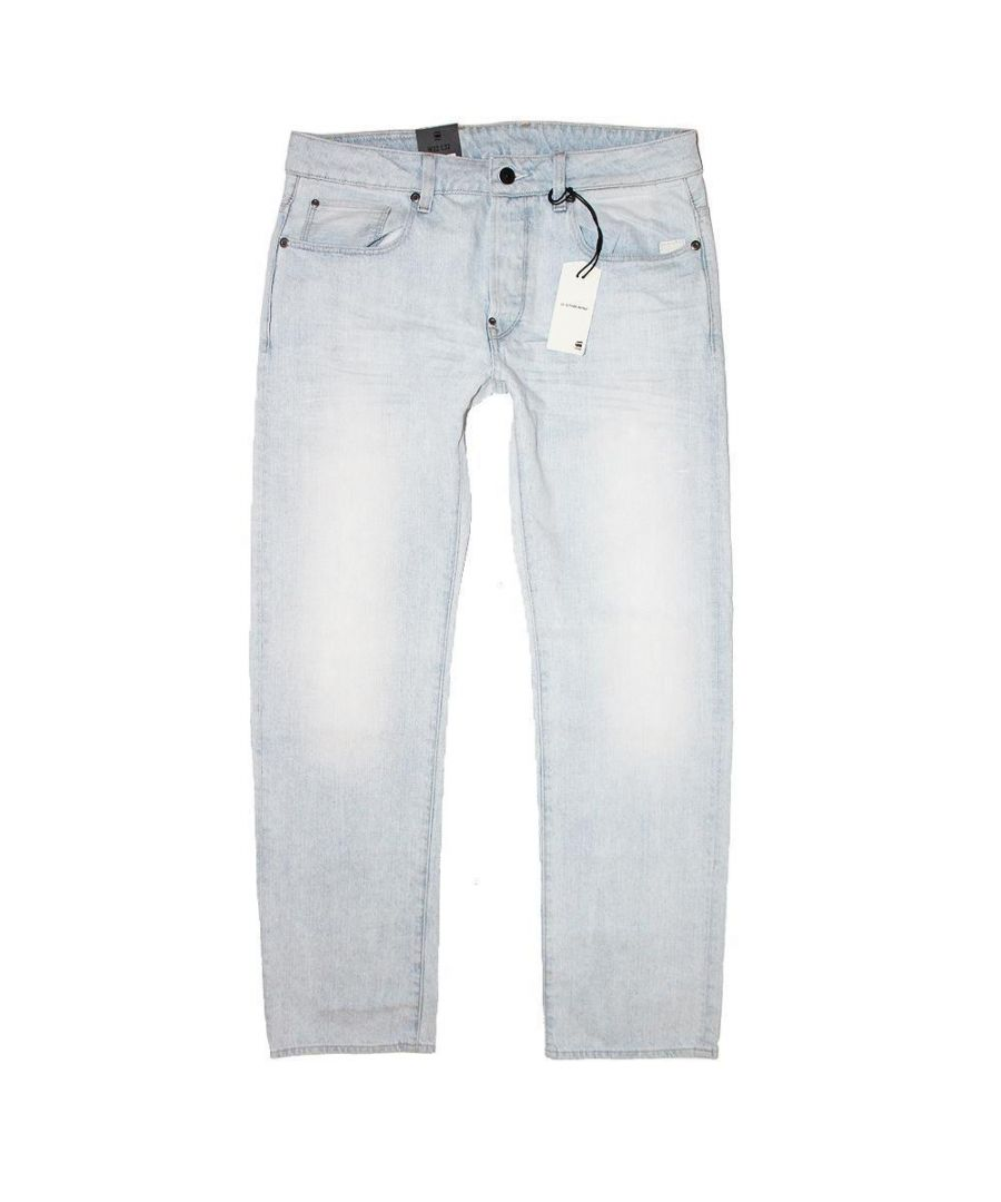 Image for G-Star Attacc Straight Light Aged Calc Denim Jeans