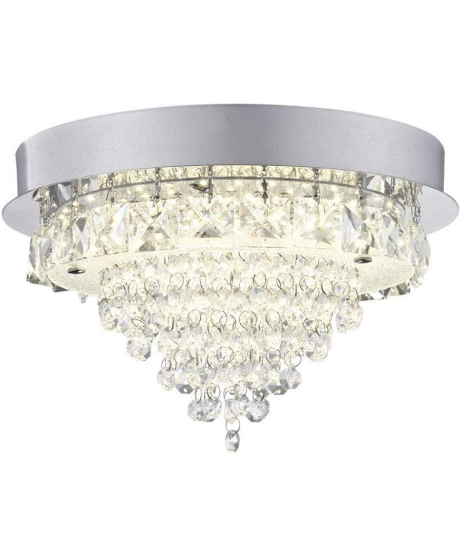 Image for Auden LED Round Semi-Flush Ceiling Light