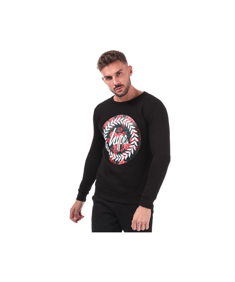 Image for Men's Hype Rose Circle Crewneck in Black