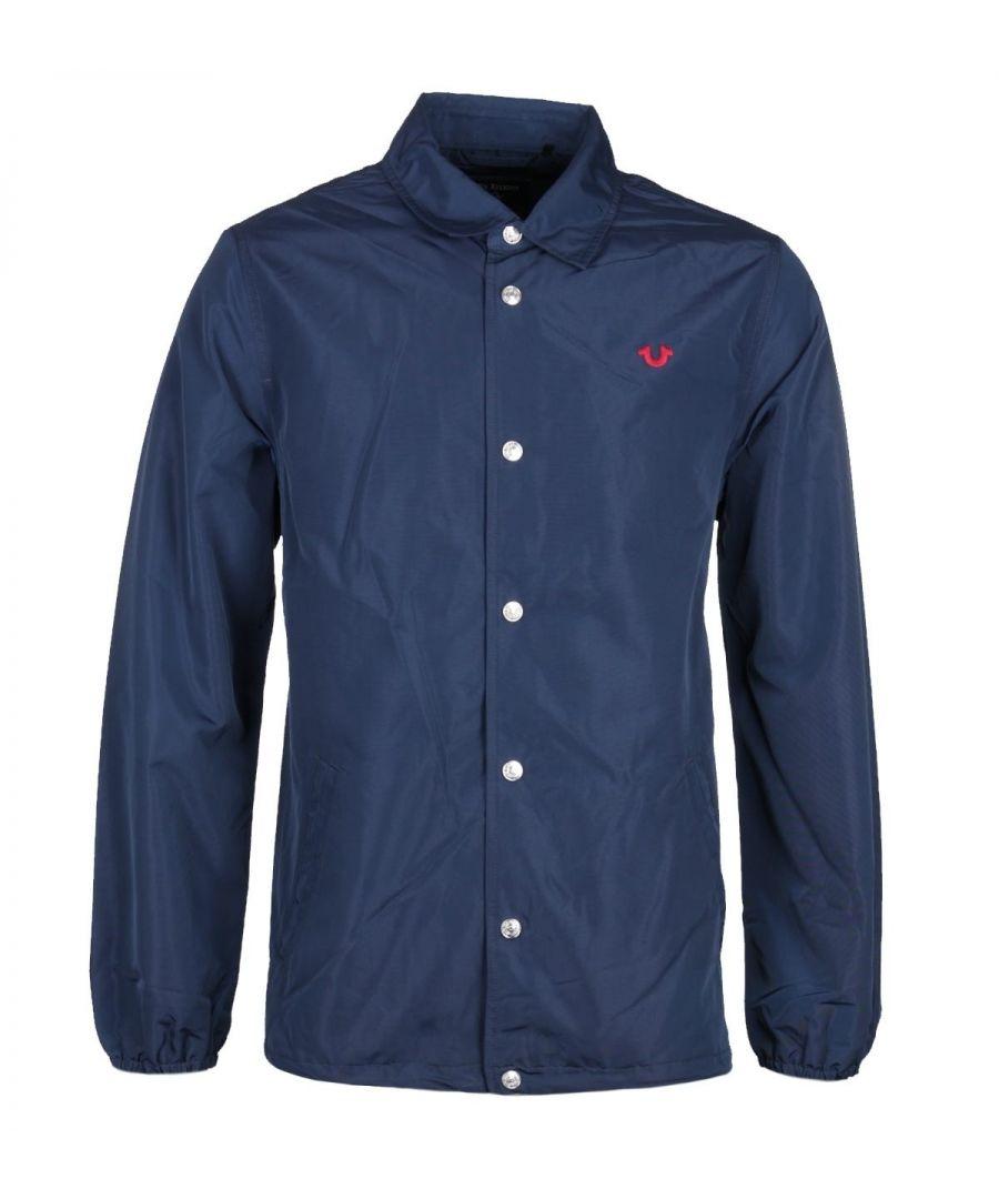 Image for True Religion Navy Coach Jacket