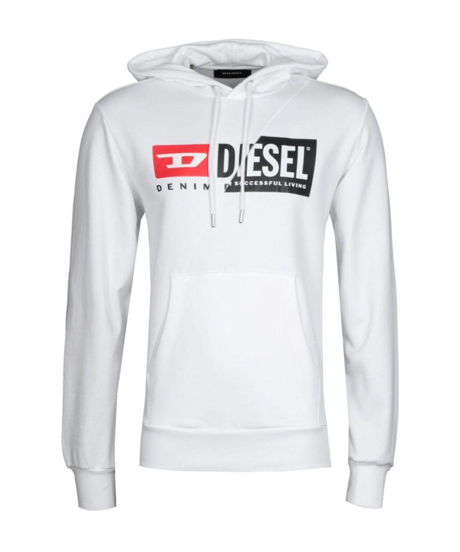Image for Diesel S-Girk Cuty White Hooded Sweatshirt