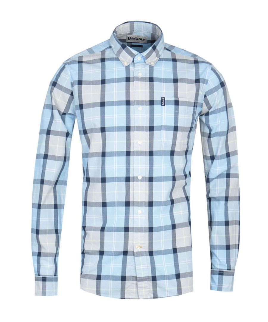 Image for Barbour Burnside Tailored Fit Check Shirt - Blue
