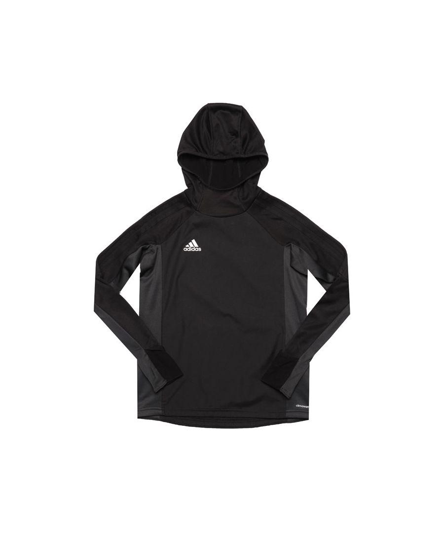 Image for Boy's adidas Junior Tiro 17 Warm Up Top in Black