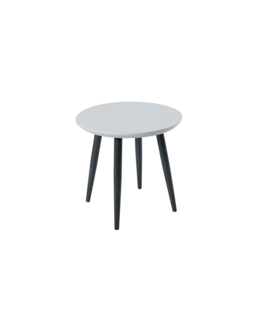 Image for Orbit Circular End Table with a Light Grey Matt Finish