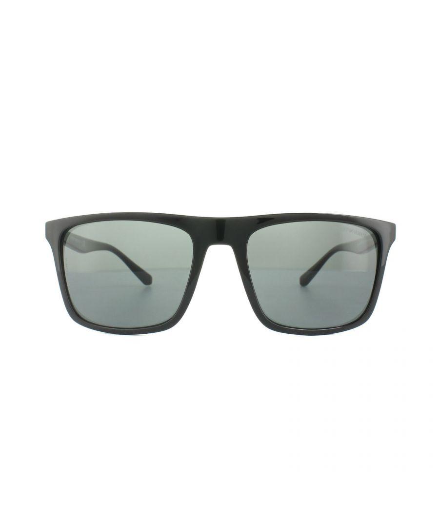 Image for Emporio Armani Sunglasses 4097 501787 Black Grey