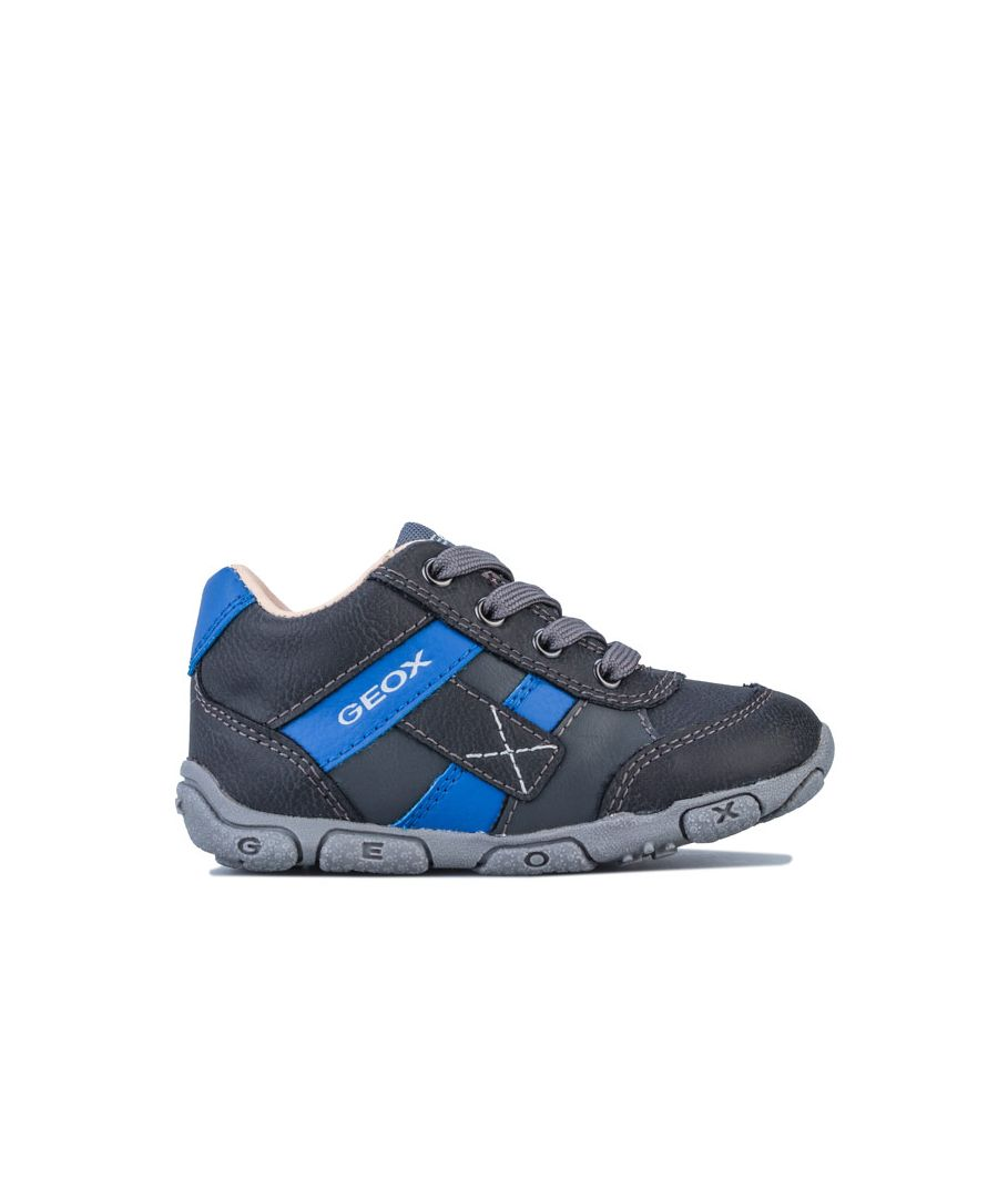 Image for Boy's Geox Infant Balu Trainers in Grey blue