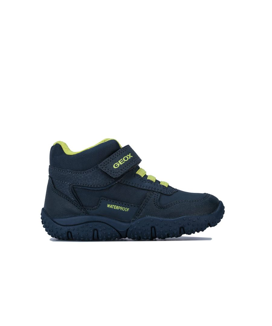 Image for Boy's Geox Infant Baltic Trainers in Navy