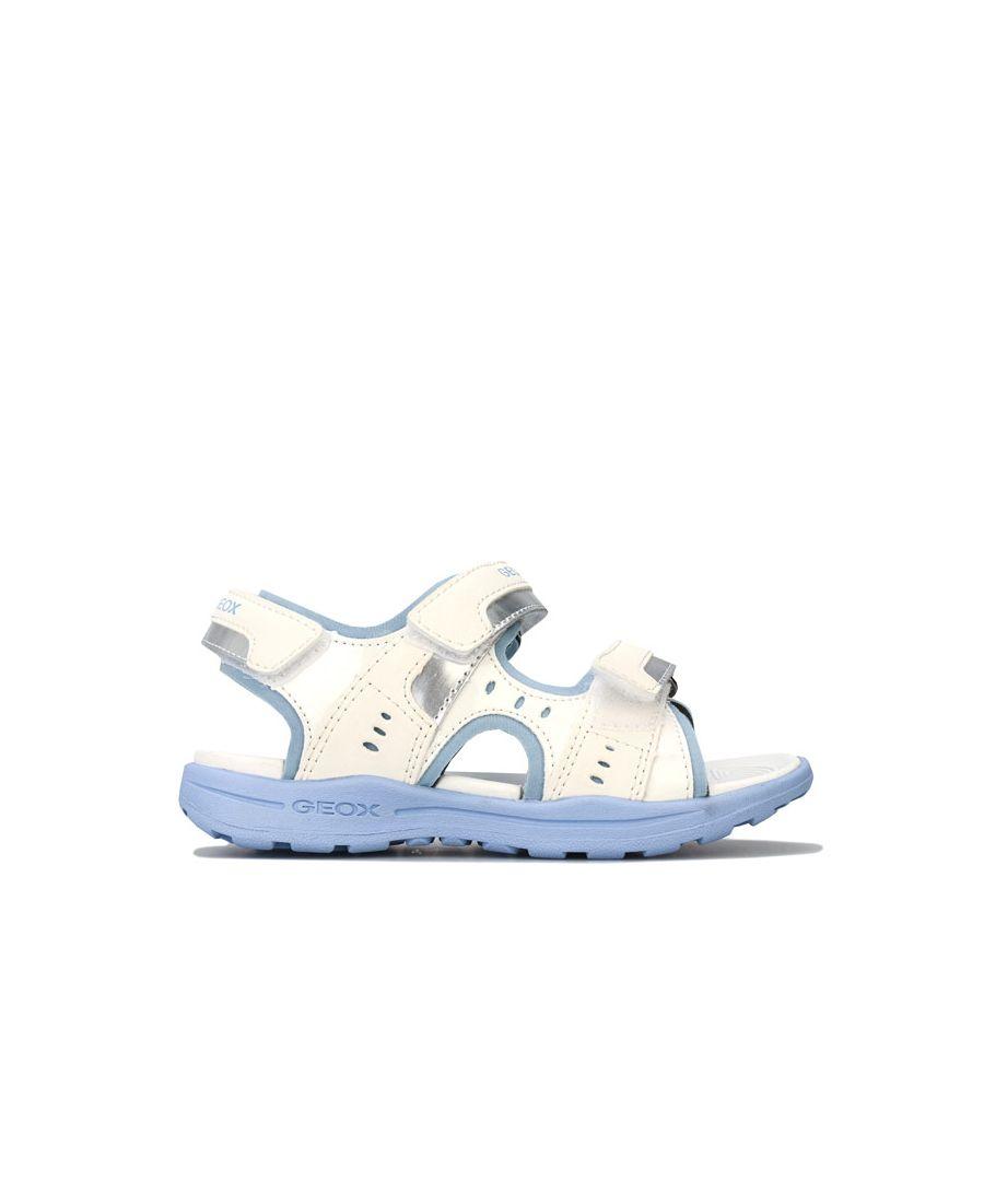 Image for Girl's Geox Children Vaniett Sandals in White sky