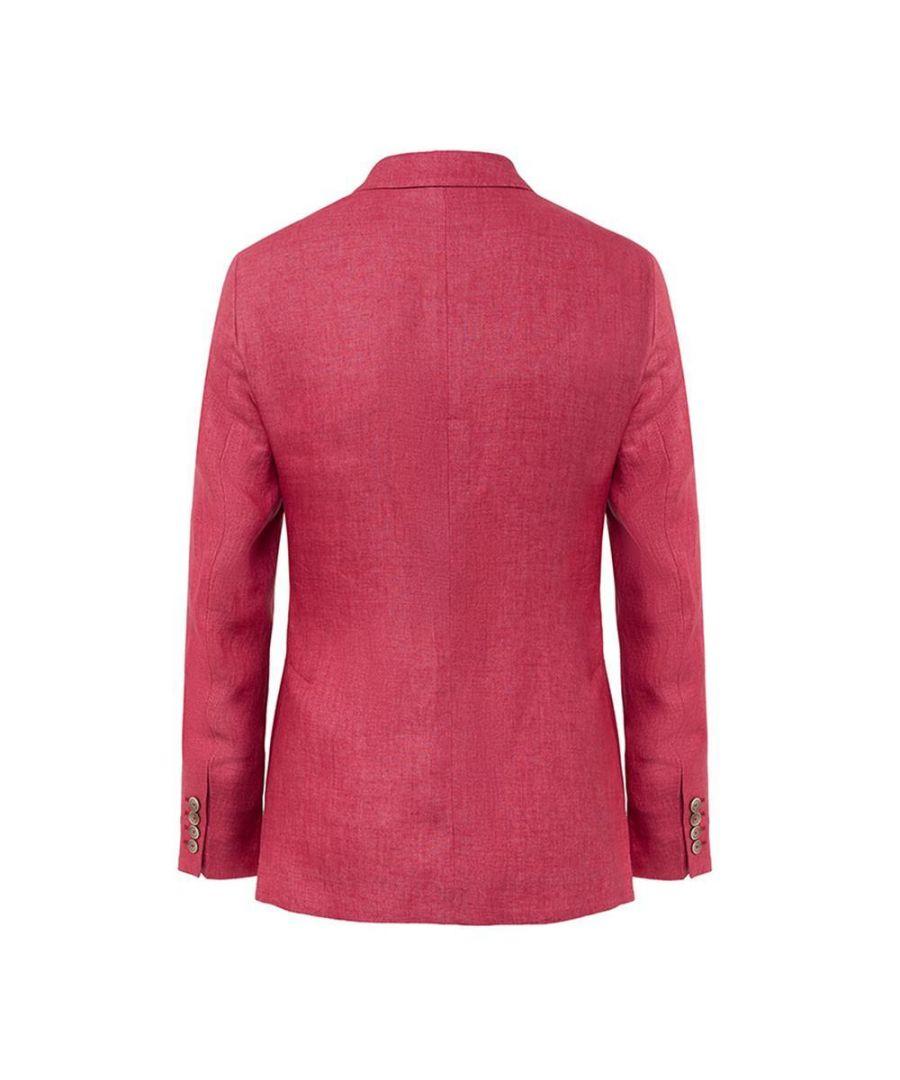 Image for Men's Hackett, Delave Linen DB Jacket in Red