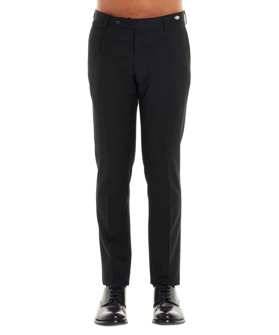 Image for TAGLIATORE MEN'S TAG1106UPZ245N3144 BLACK WOOL PANTS