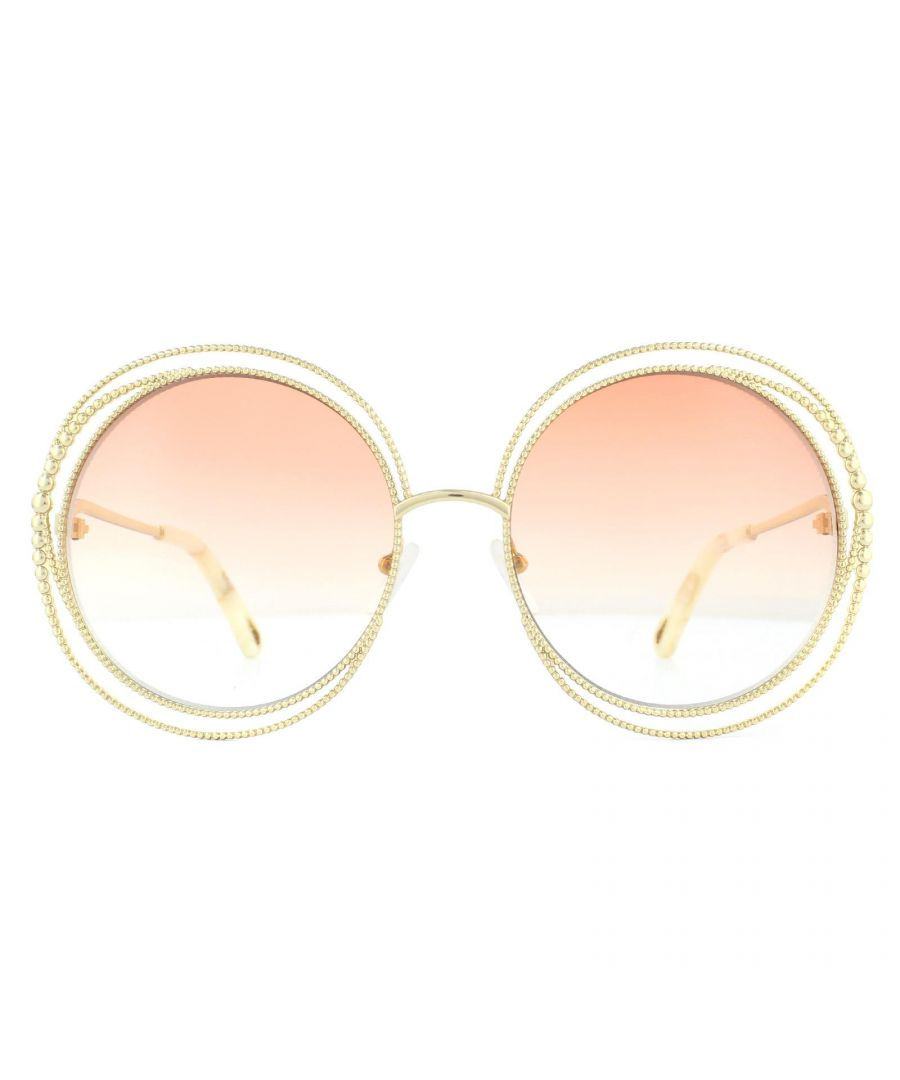 Image for Chloe Sunglasses Carlina CE114SC 724 Gold Peach Gradient