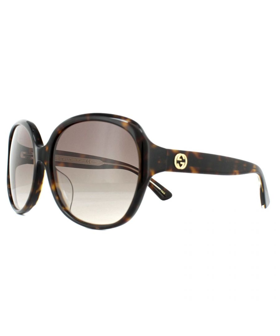 Image for Gucci Sunglasses GG0080SK 003 Tortoise Brown Gradient