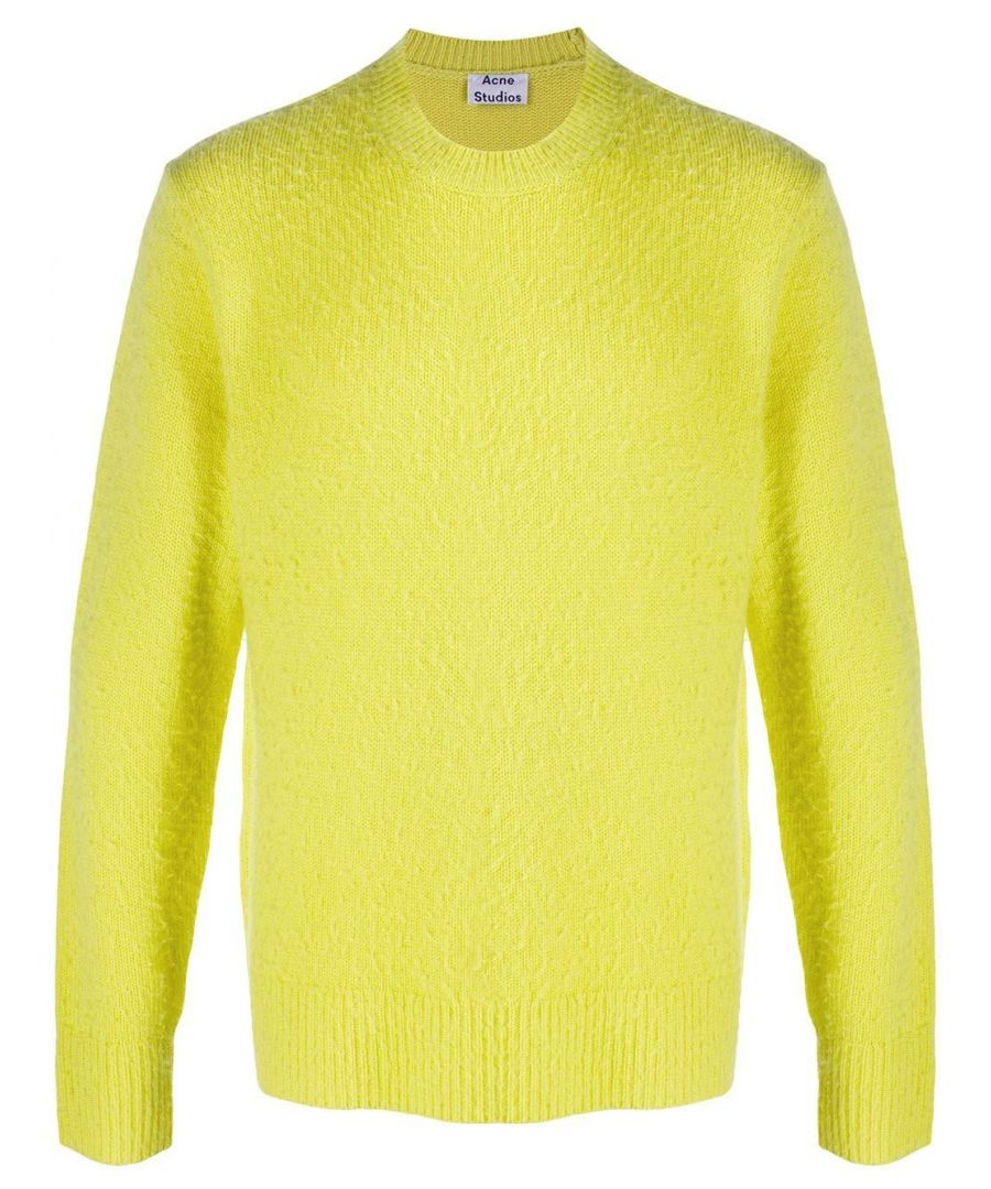 Image for ACNE STUDIOS MEN'S 29H151YELLOW YELLOW WOOL SWEATER