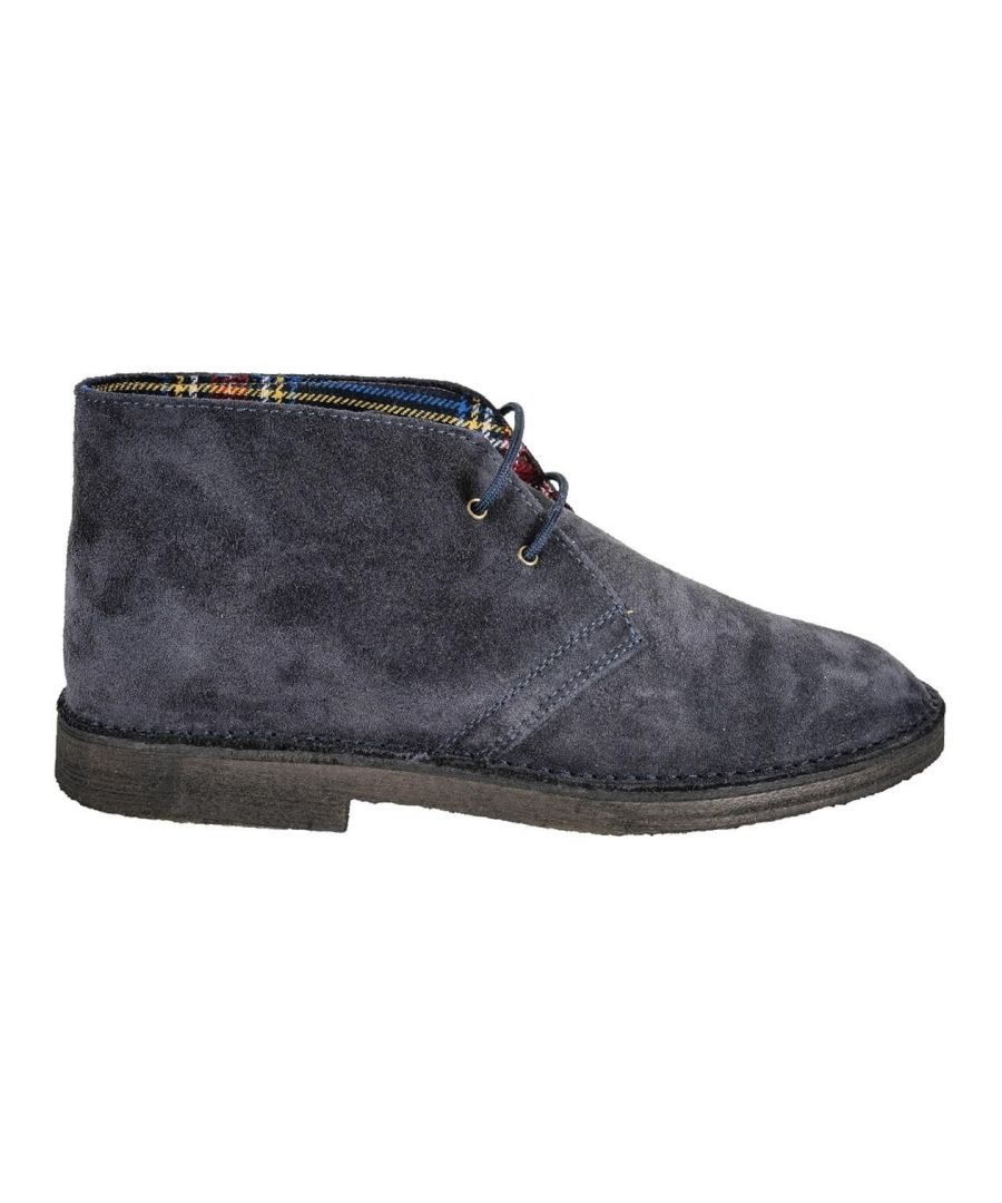 Image for DANIELE ALESSANDRINI MEN'S F600KL161WO390623 BLUE SUEDE ANKLE BOOTS