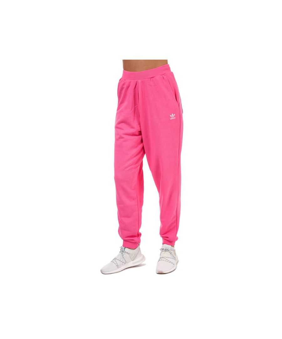 Image for Women's adidas Originals Trefoil Essentials Cuffed Joggers in Pink